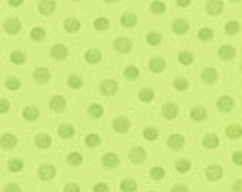 "Green Circle Galaxy Dot Fabric ~ LEWE the EWE ~ 100% Cotton Fabric ~ Green Coordinating Fabric ~ 1/2 Yard Cut ~ 18"" x 44"" by Susybee Fabrics"