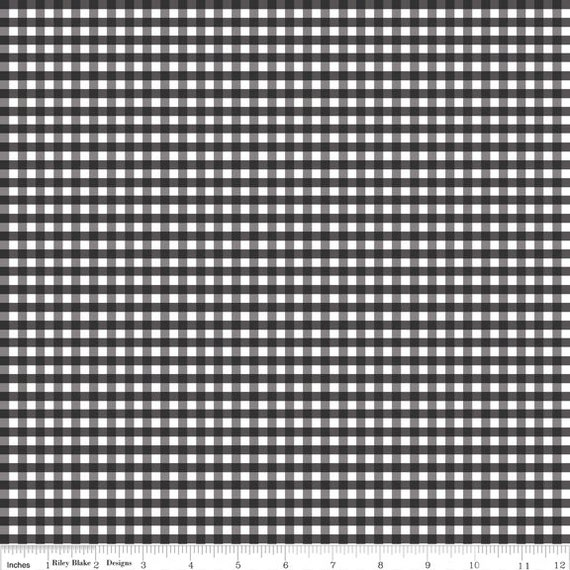 Gingham Black And White Fabric 100 Cotton Fabric 1 2 Yard 18 X 44 From Riley Blake C440