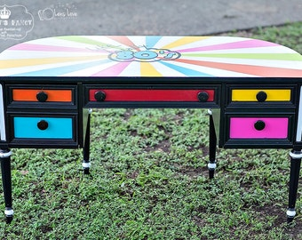 Classic desk turned TOTALLY RAD!