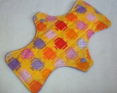 Robots--Yellow-- 9 Inch Cloth Pad--PATTERN PLACEMENT VARIES