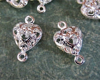 20 - Antique Silver - Heart Links  (ASHL)