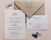Wedding Calligraphy Invitation Stamp Set