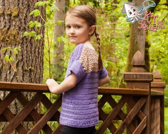 Crochet pattern, girls crochet top pattern, summer, spring, ok to sell, crochet t shirt, crochet sweater, girls top pattern, easy