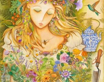 Herbal Goddess - A Fine Art Greeting Card