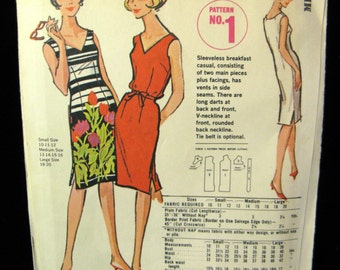Vintage 60s McCalls Quaker Oats Breakfast Casual Dress Pattern No 1, Medium,  UC & FF