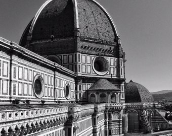 Fine Art Photography, Florence, Italy, Firenze, 8x12, Duomo, Cathedral, Santa Maria del Fiore, black and white