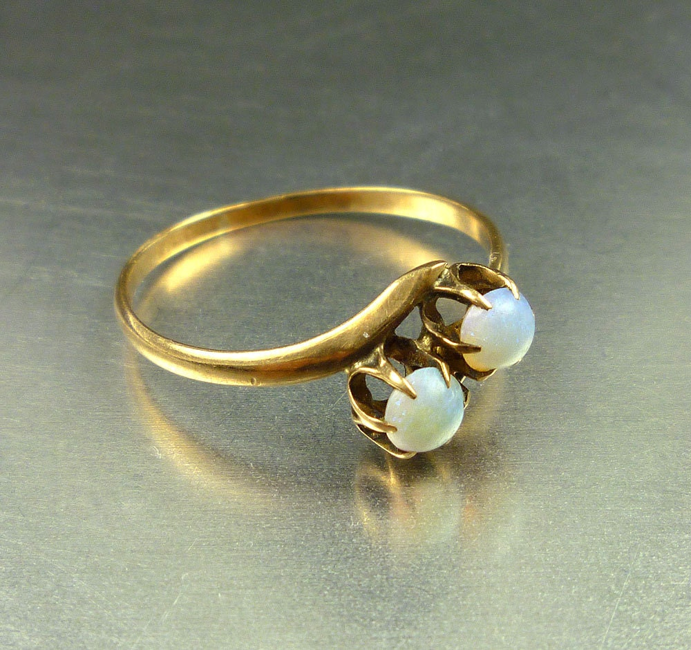 10k gold opal ring antique edwardian by