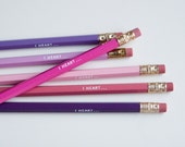 i heart – engraved pencil set by one fine dae