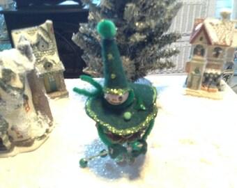 6 inch pine cone person.  Handmade.