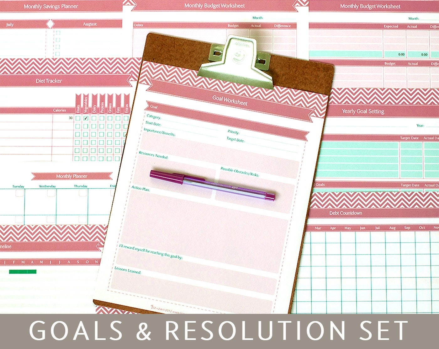 Yearly Goal Setting Template. weekly goal template. weekly goal ...