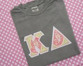 Comfort Colors Short Sleeve  Appliqued Greek Letter Shirt ...  Choose your fabrics for the perfect shirt.