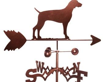 Hand Made Weimaraner Dog Weathervane NEW