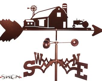 Hand Made Farm Scene Farmall International Tractor Weathervane NEW