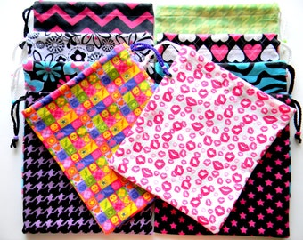 15 Gymnastics Grip Bags or Gift Bags Set Of 15 WHOLESALE Random Assortment or Lot lower price per bag and free shipping
