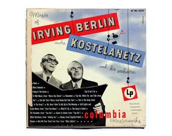 "Alex Steinweiss record album design, 1950. ""Andre Kostelanetz: Music of Irving Berlin"" LP"