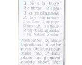 Your Favorite Recipe Typography Word Art Sign