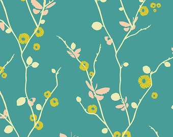Art Gallery's Rapture by Pat Bravo, Butterfly Bliss Teal 1 yard
