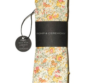 Pomp & Ceremony, Men's tie, Liberty of London Claire-Aude (T) yellow