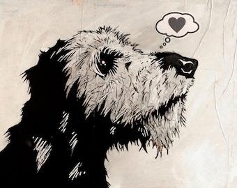 Irish Wolfhound - 8x10 Art Print - Love - Dog