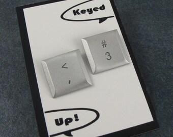 iTacks, <3, Upcycled, Recycled, Apple, Mac Computer Key, Thumbtacks - set of 2, gift, birthday
