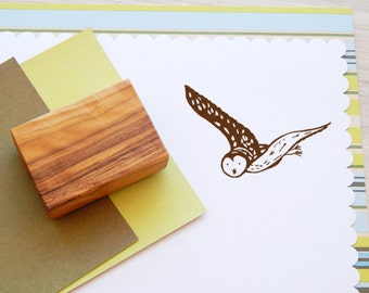 Forest Owl Olive Wood Stamp