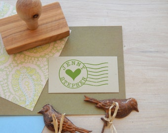 Custom  Post Office Franking Olive Wood Stamp