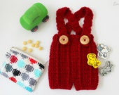 Newborn Suspenders, Shortalls, Baby Overall Pattern, Crochet Pattern, Crochet Overalls, Photography Prop, Infant Outfit, DIY Pattern