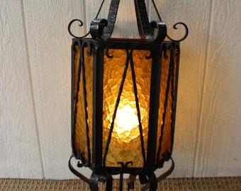 gothic lantern lighting. vintage antique black metal gothic large hanging foyer light ornate lantern lighting