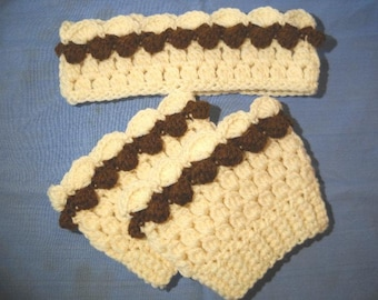 Boot Cuffs with matching Earwarmer