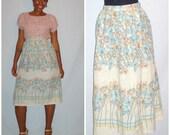 Vintage 1970s Floral Skirt