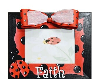 Personalized Ladybug Frame