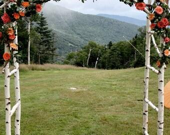 Chuppa / wedding arch / Arbor  /  Birch Poles