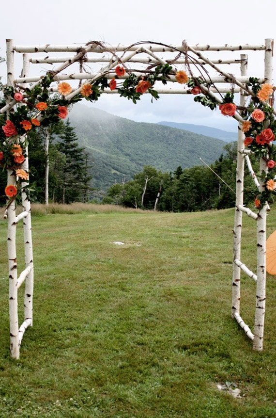 Chuppa wedding arch Arbor Birch Poles by