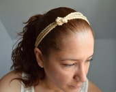 CLEARANCE!! - Stylish Headband in Beige Color- Ready To Ship