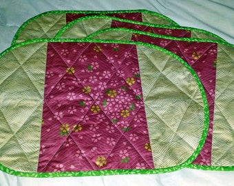 Oval Quilted Placemats Patterns My Quilt Pattern