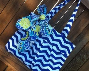 The Rae Tote- Fabric Tote/Handbag/Hobo/Purse