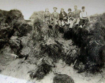 Vintage Photograph - Sat on the Dunes