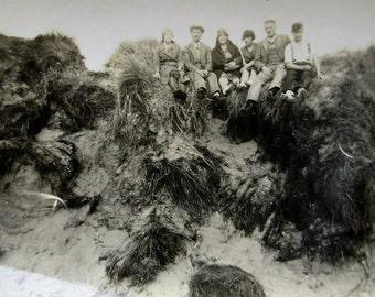 Vintage Photograph - Sat on the Dunes