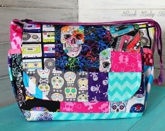 Design your own custom made Patchwork Mini Messenger Bag with Adjustable Strap | Diaper Bag | Purse | Handbag