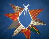 African Fabric Bunting ~ Double Sided Kente Fabrics ~ Rustic Chic Wedding Party