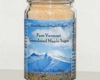 Pure Vermont Maple Granulated Sugar- 3.4oz Jar