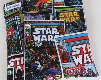 Reusable Eco Friendly Sandwich or Snack Bag Star Wars