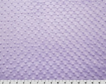 Minky Dot Fabric, Cuddle Dimple in Lavender, Shannon Fabrics, 1 Yard