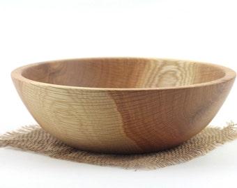 Wooden Shagbark Hickory Bowl / Hickory Dish