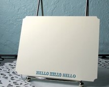 Stationery Flat Handmade Hello Note Cards and Envelopes for Written Correspondence
