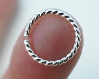 16 gauge SEPTUM / CARTILAGE RING earring / cartilage hoop / sterling silver / 16g  / piercing No.00E501