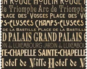 I Dream of Paris by Windham Fabrics - Pela Studio by Wild Apple Paris Words Quilt Fabric