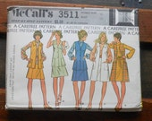 Vintage 1973 McCalls Sewing Pattern 3511 Size 16 for Ensemble with Dress or Blouse, Unlined Coat or Jacket, and Skirt