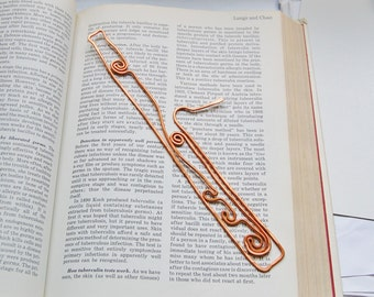 Copper bassoon bookmark hand made sculpture