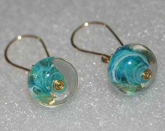 Chunky Turquoise Earrings - Cyberlily